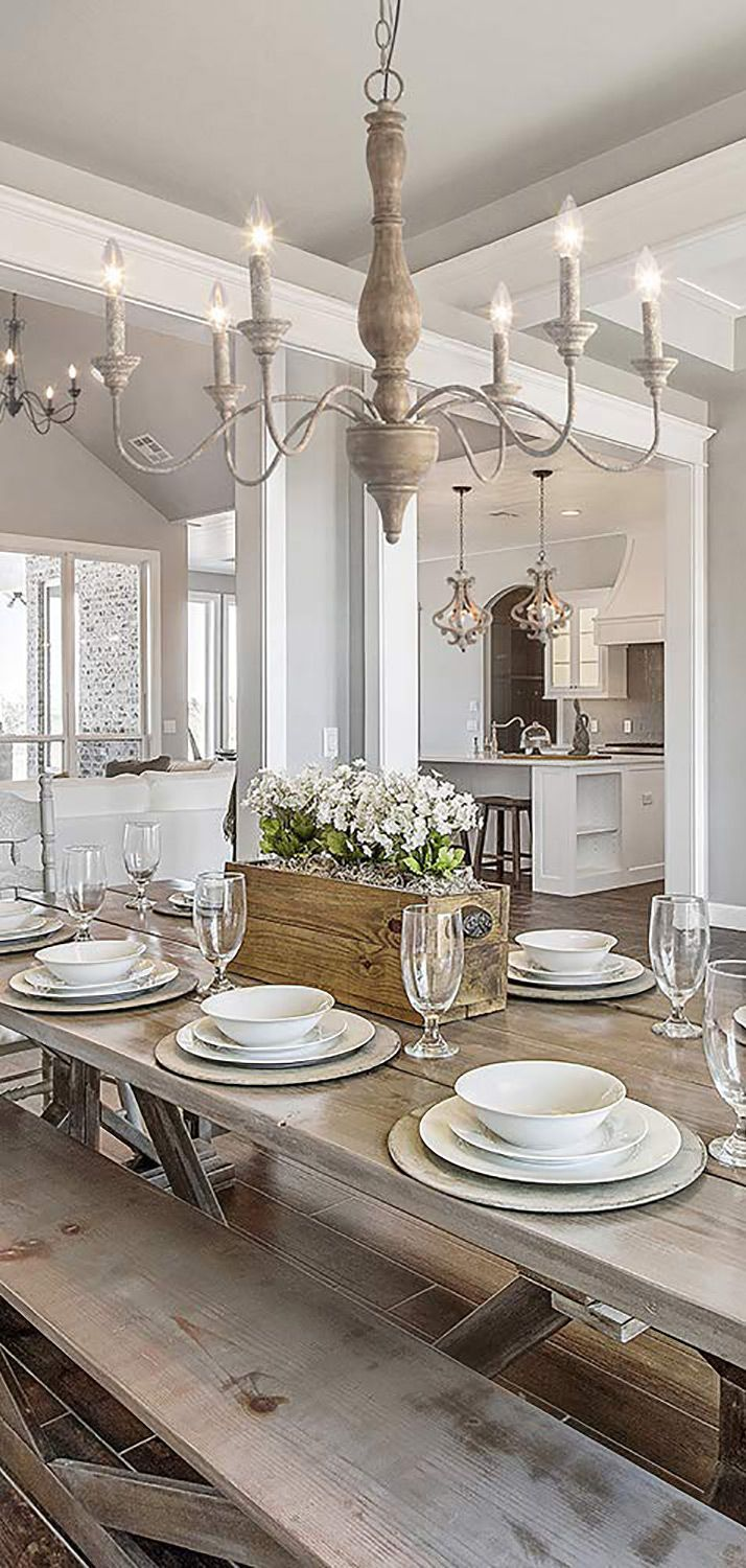 French Country White Chandelier