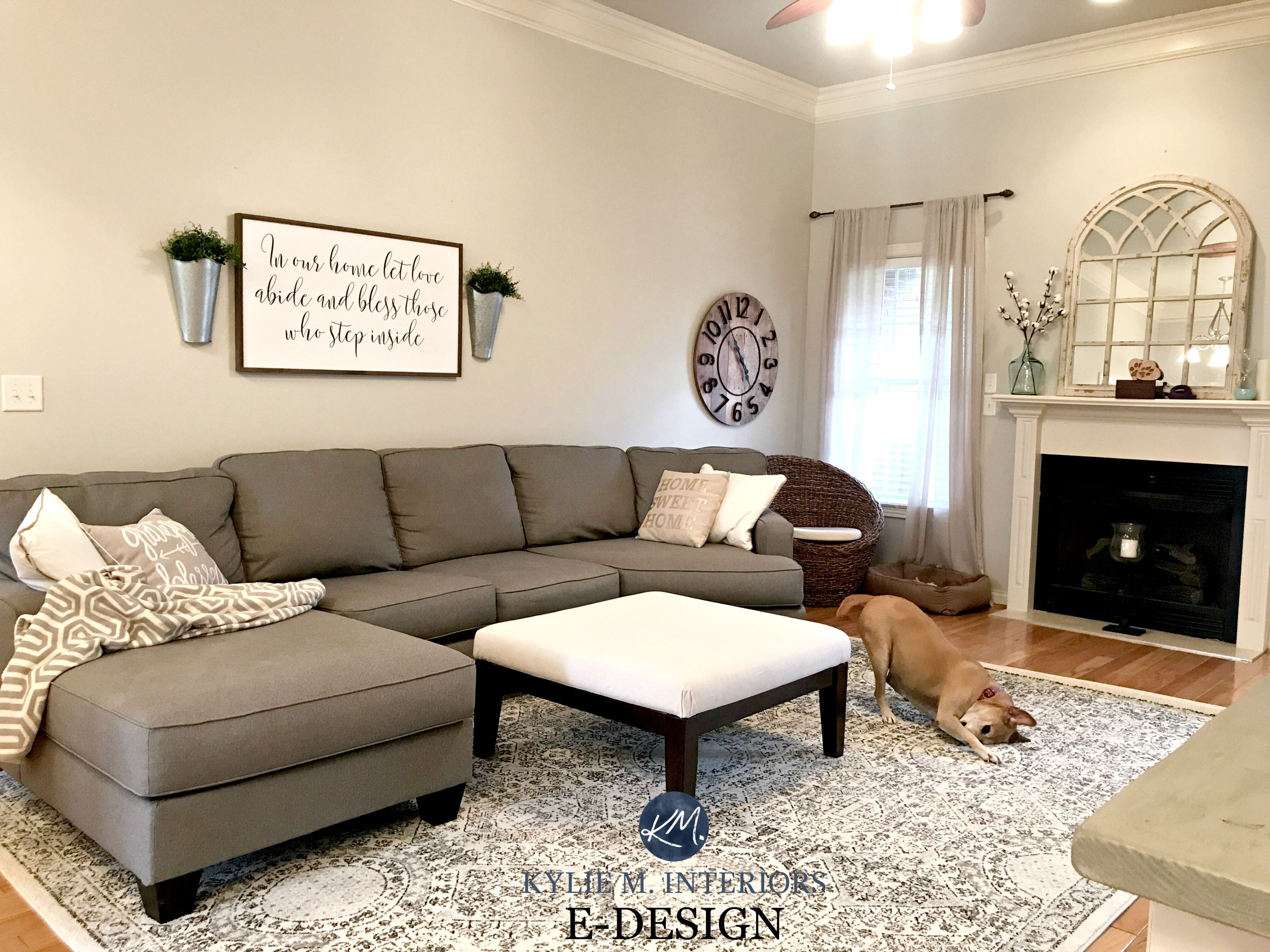 Sherwin Williams Agreeable Gray In Living Room With Gray