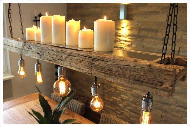 retro lampe edison aus altem bauholz dieses liebevoll und aufwendig aufgearbeitete. Black Bedroom Furniture Sets. Home Design Ideas