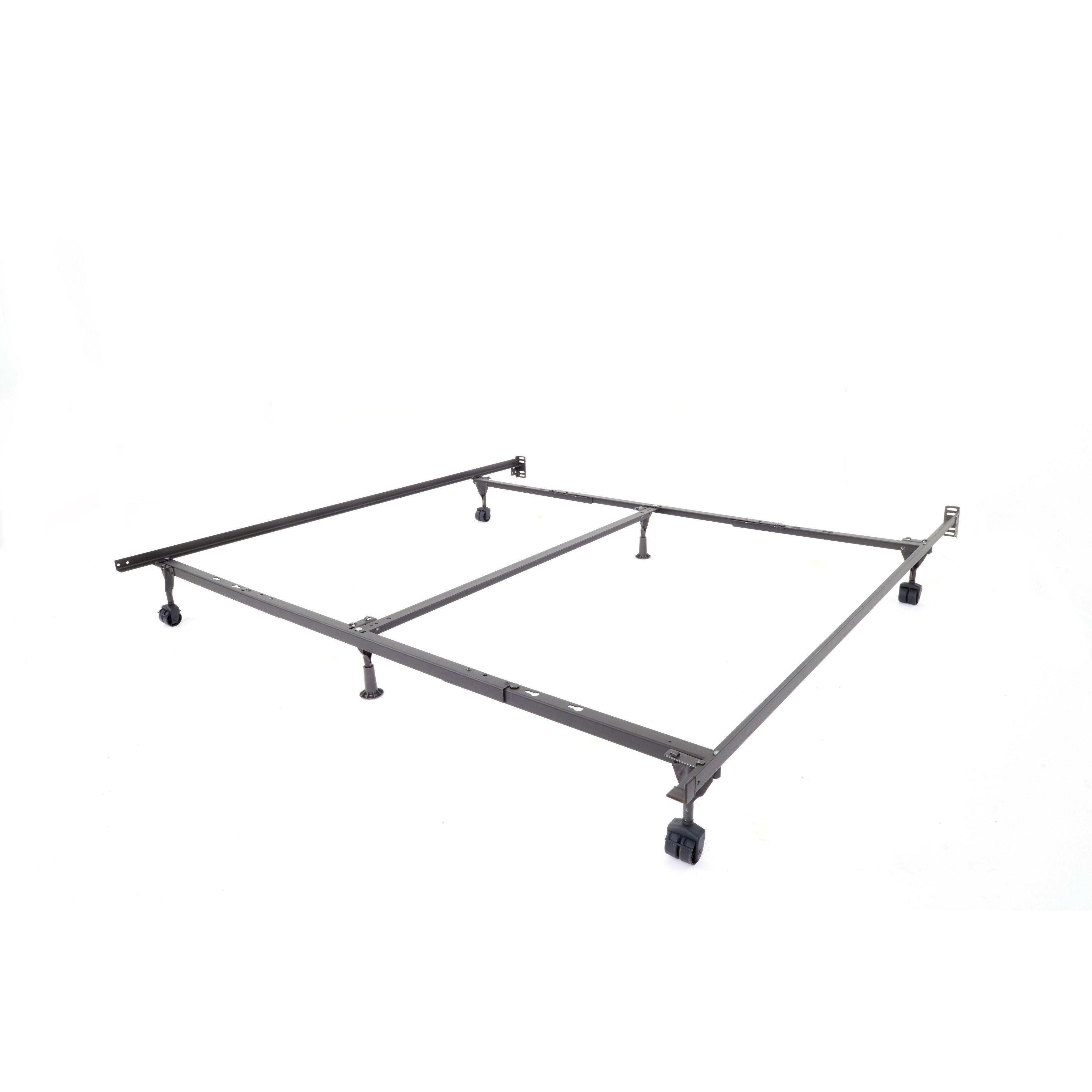 Insta-Lock Queen King Cal King Bed Frame (Adjustable), Brown