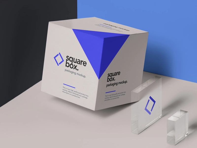 Download Square Box Packaging Mockup Free Yellowimages