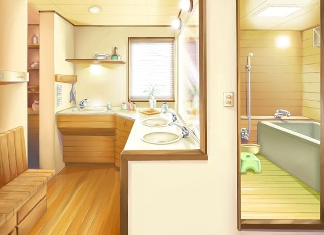 bathroom scenery background anime background anime scenery rh pinterest com