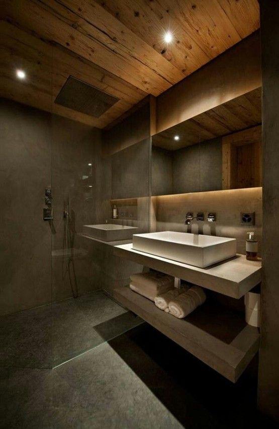 donkere badkamers - Badkamer   Pinterest - Donkere badkamers ...