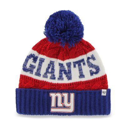 8b312ea50 Women's New York Giants '47 Brand Red Swanson Cuff w/Pom Knit Beanie ...