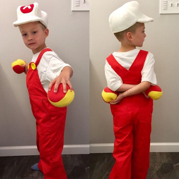 Fire Mario Diy Halloween Kids Costume Https Babybondaproductions Com Diy Fire Mario Costume Mario Costume Mario Costume Diy Diy Costumes Kids