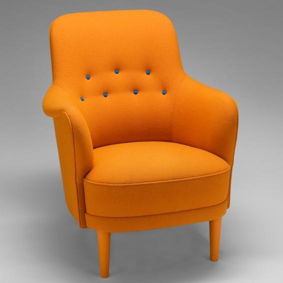 Carl Malmsten Armchair Orange Pinterest La suede, Atmosphère