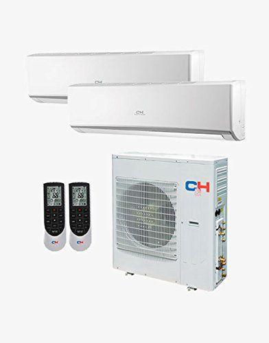 Cooper+&+Hunter+Multi+Dual+Zone+Ductless+Mini-split+System+24,000+BTU+Inverter+Heat+Pump+(9k+9k)