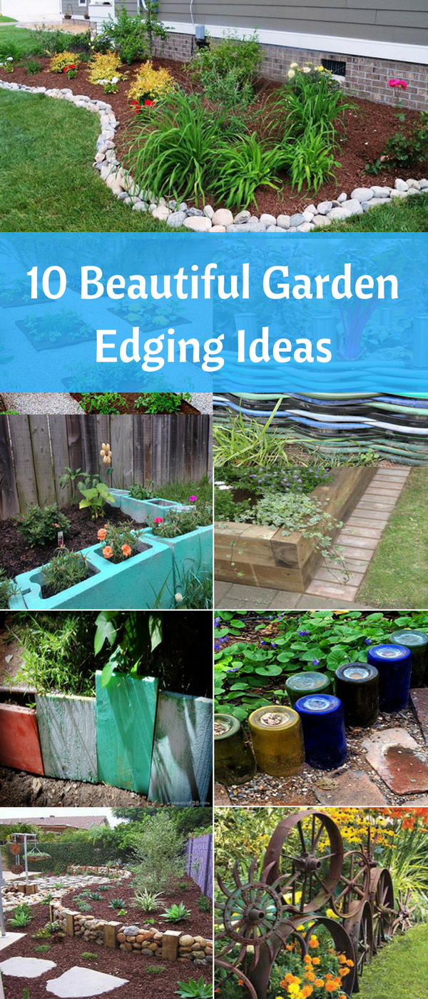 Fun Garden Edging Ideas. Some ideas are recycling old hoses or wine ...