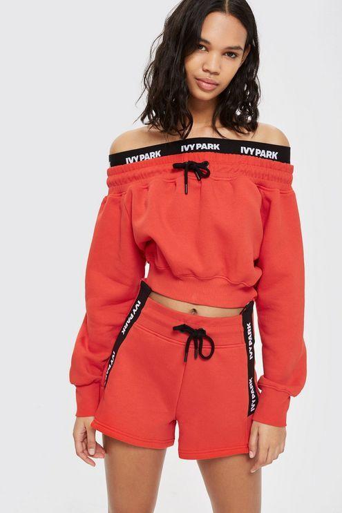 92a417f60caeb Custom Tape Shorts by Ivy Park | moletom em 2019 | Moletom
