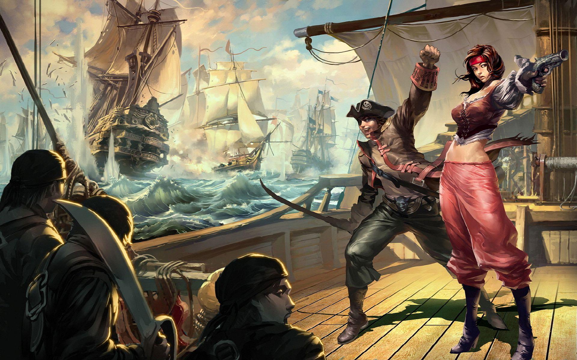 Fantasy ship cliff jolly roger pirate ship rock lightning wallpaper - Fantasy Pirate Wallpaper