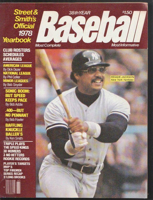 1978 Street and Smith Yearbook NEW YORK Yankees REGGIE JACKSON Mr OCTOBER