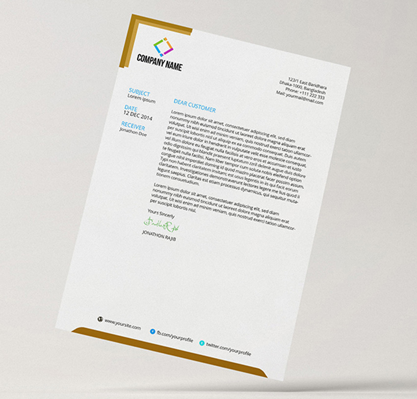 slim letterhead pad with ms word doc (2020) modern cv for management position examples student part time job hospitality resume