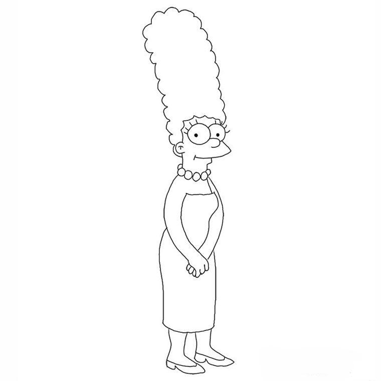 Coloriage Les Simpson Marge A Imprimer Gratuit Les Simpson