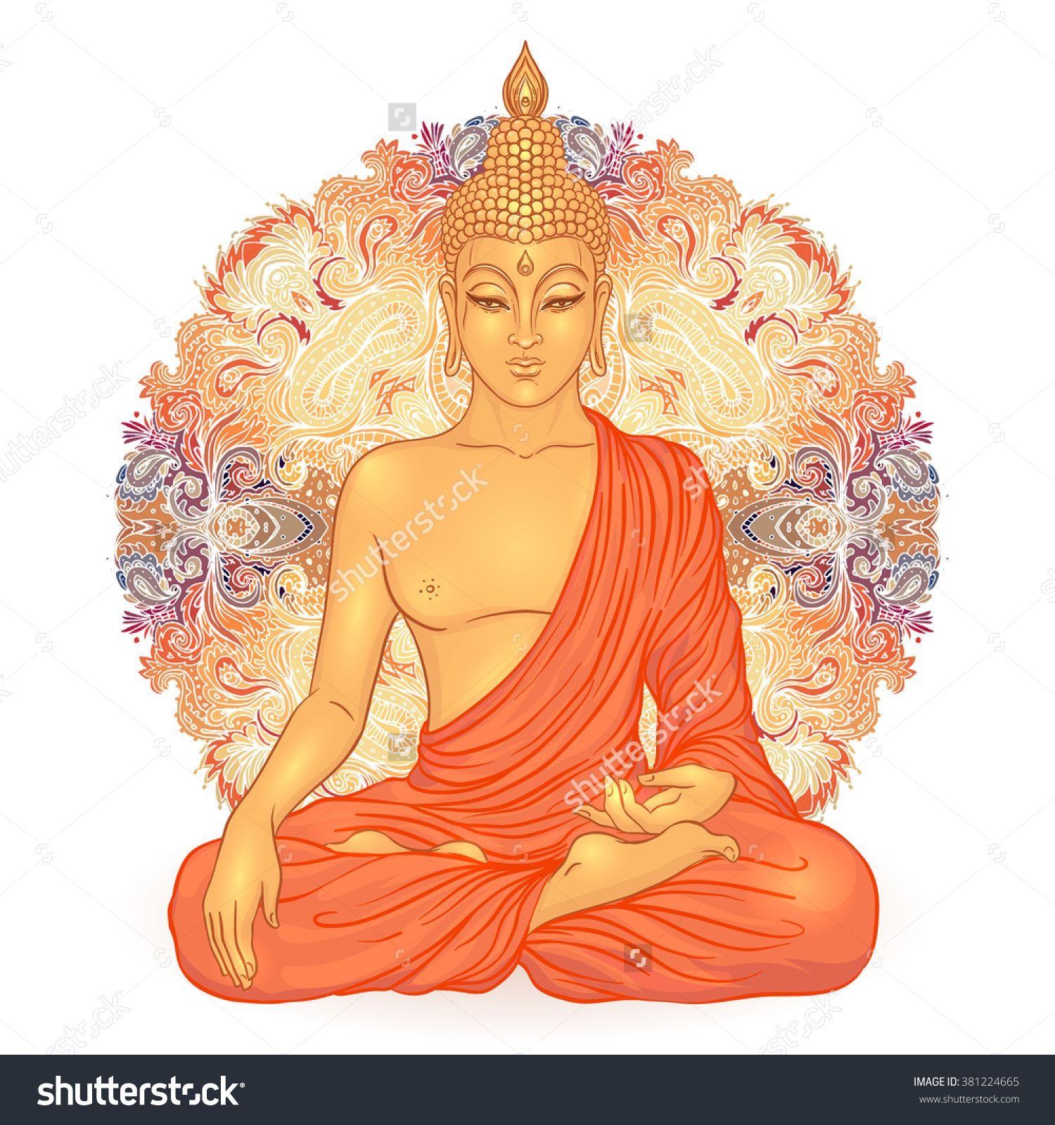 stock-vector-sitting-buddha-over-ornate-mandala-round-pattern-esoteric-vector-illustration-vintage-decorative-381224665.jpg (1500×1600)
