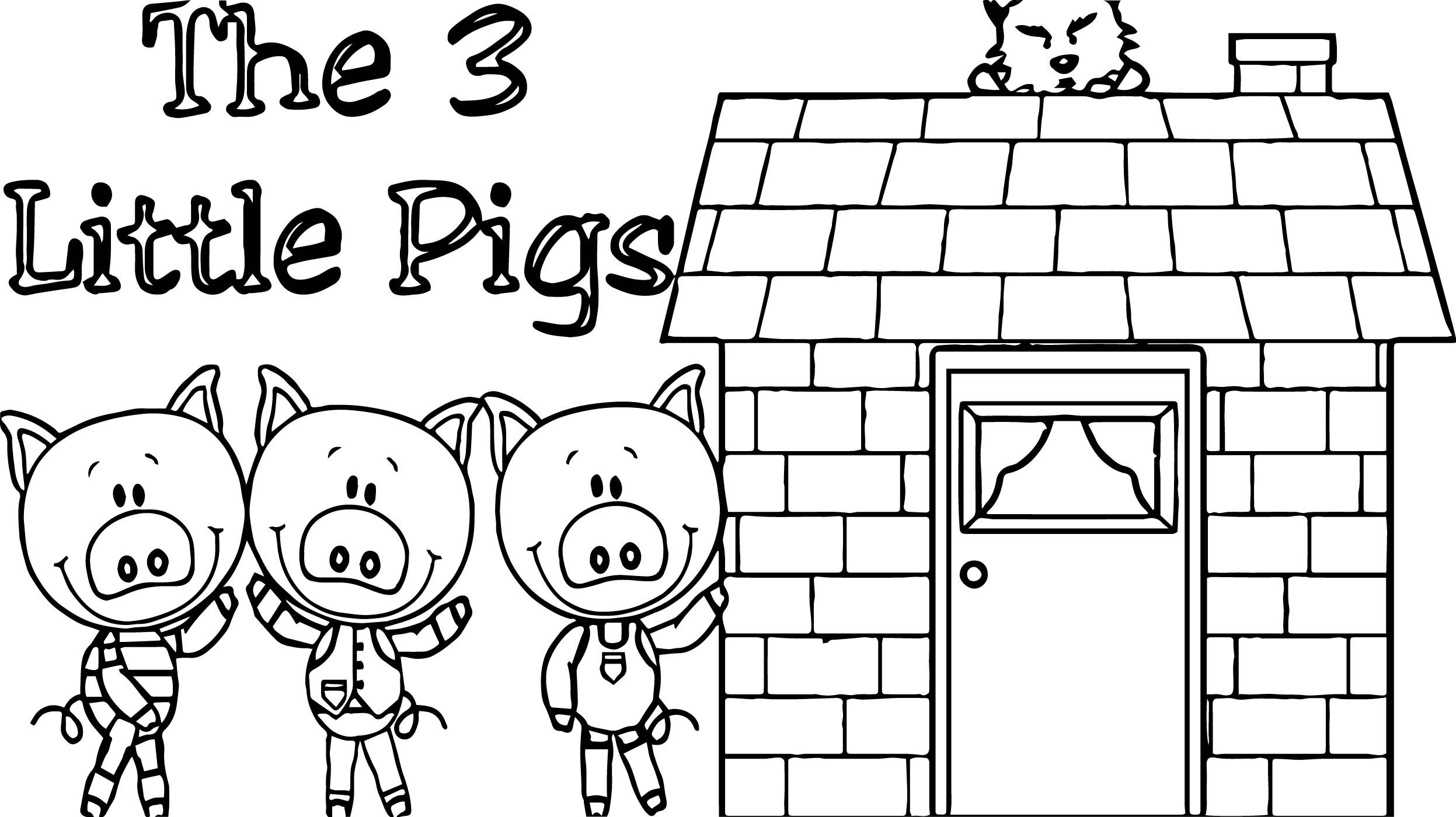 Cool 3 Little Pigs House Coloring Page House Colouring Pages Little Pigs Coloring Pages