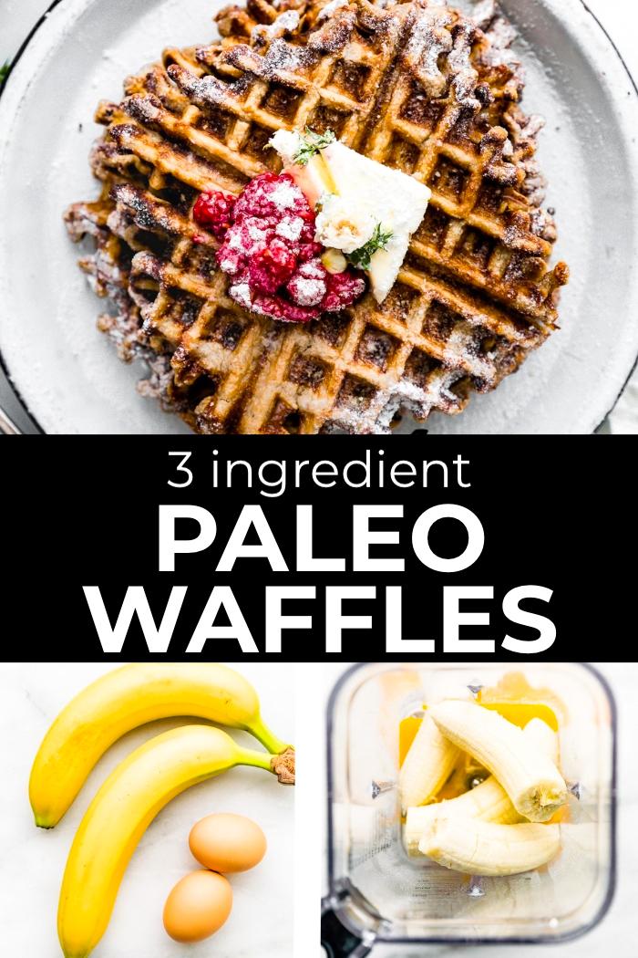 3 Ingredient Paleo Waffles (Pancake Recipe Option) images