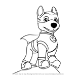 How To Draw Apollo The Super Pup From Paw Patrol Coloring