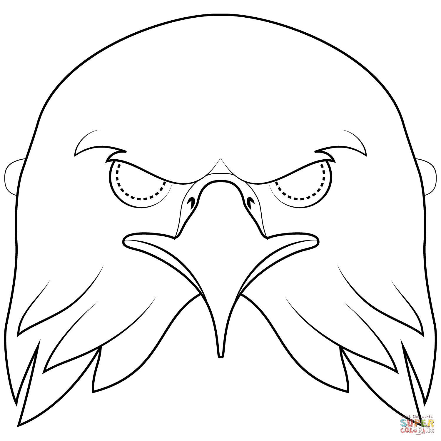 Bald Eagle Mask Coloring Page Free Printable Coloring Pages Eagle Mask Printable Coloring Masks Coloring Pages