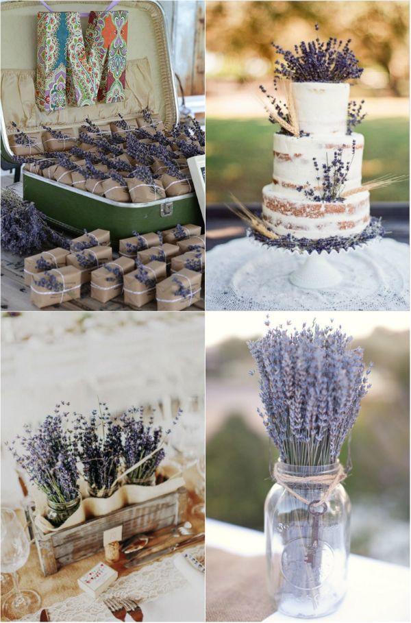 Hochzeitsdekoration lavendel
