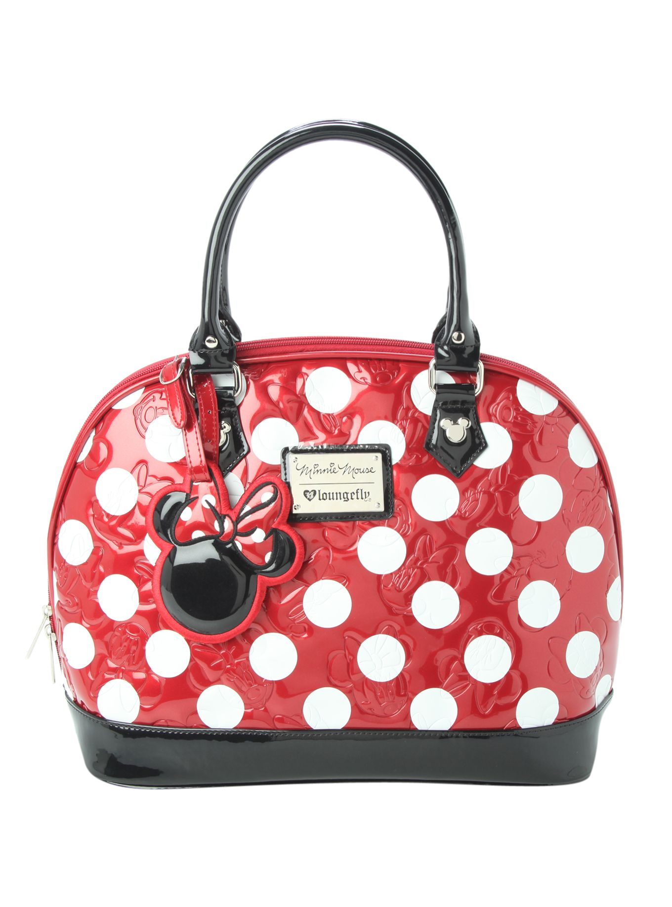 2e4984b0d43d Loungefly Disney Minnie Mouse Polka Dot Dome Bag | Hot Topic ...