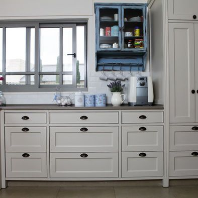 lose the blue cabinet like shape of drawer pulls but maybe in brushed nickel instead on farmhouse kitchen hardware id=90687