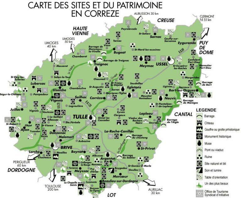 Carte De La Correze Correze Tourisme Carte
