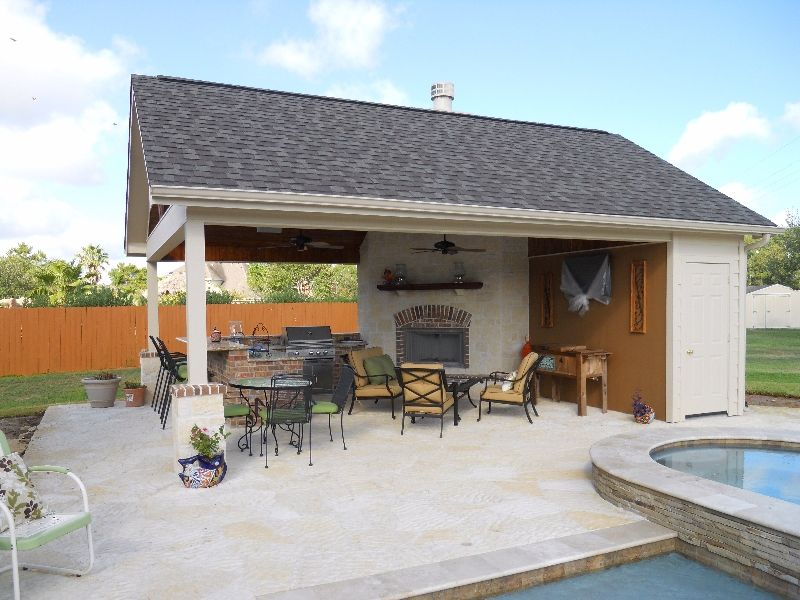 Cozy Small Pool House Design Small Pool Houses Pool House Plans