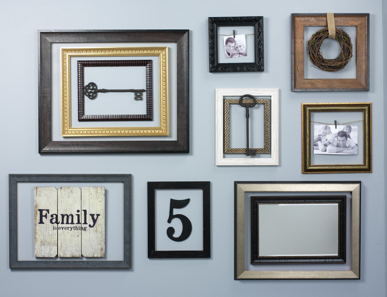 Hang empty frames in groups for a unique wall display description hang empty frames in groups for a unique wall display description from jeuxipadfo Gallery