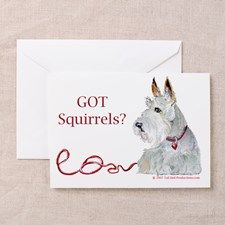 Wheaten Scottish Terrier Greeting Card for