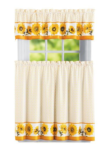 Sunflower Curtain Sunflower Kitchen Sunflower Curtains Kitchen Curtains