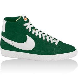 best sneakers fe204 ce434 original Baskets Nike Blazer High Premium Retro Femme vert blanc en solde
