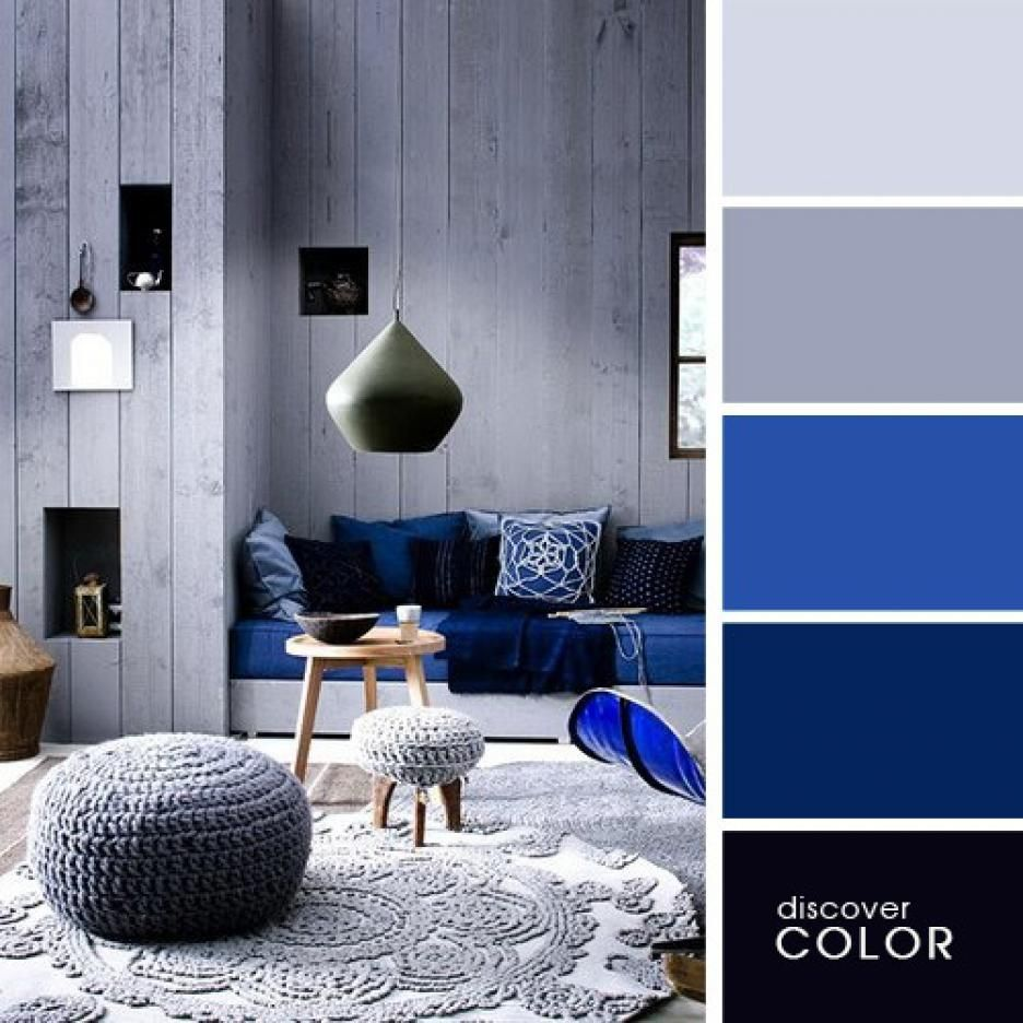 Perfect Colour Combinations For Interior Blue Grey Marine Vintage Room Color Schemes Living Room Color Room Colors