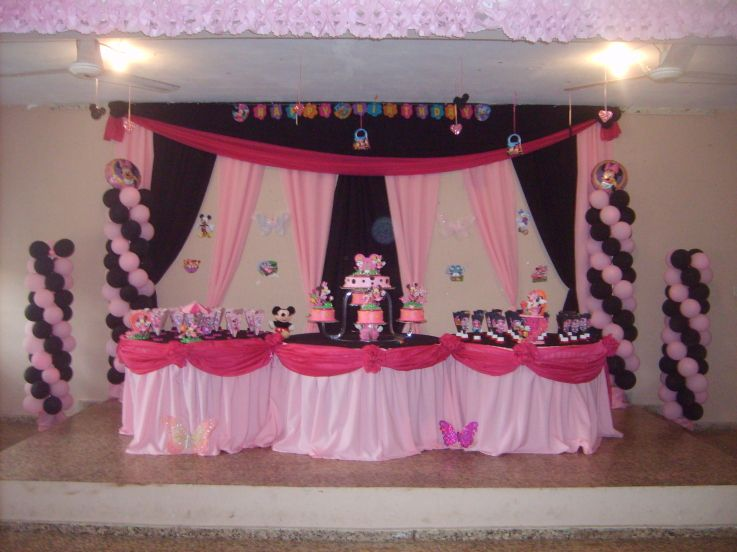 Minnie mouse baby shower decoraci n de baby shower baby minnie imagui b - Decoration de baby shower ...