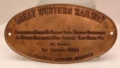 Railroad Sign Metal British Great Western Railway Vintage by clydesbarn