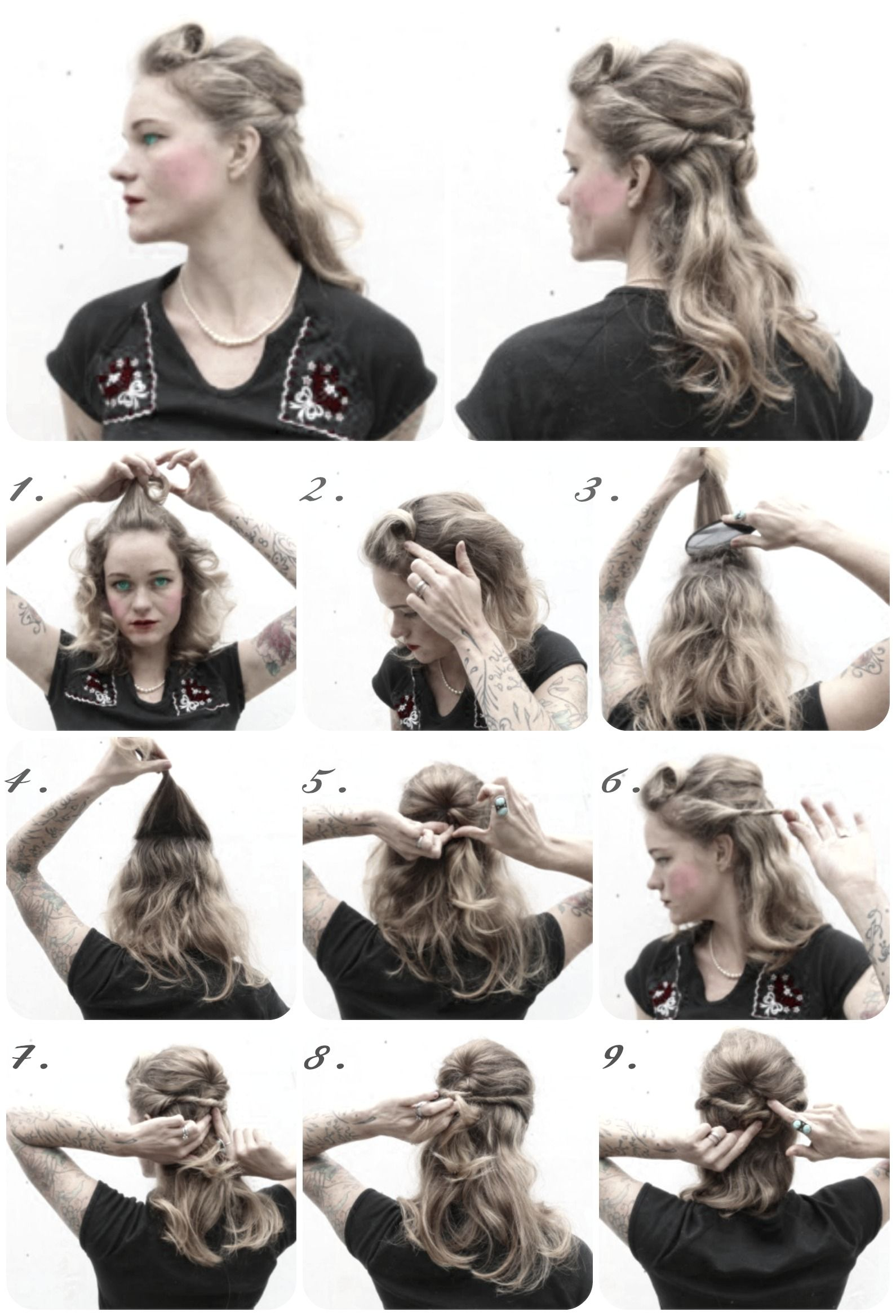 How To Hair Girl Victory Rolls Archives 1940s Hairstyles For Long Hair 1940s Hairstyles Retro Hairstyles