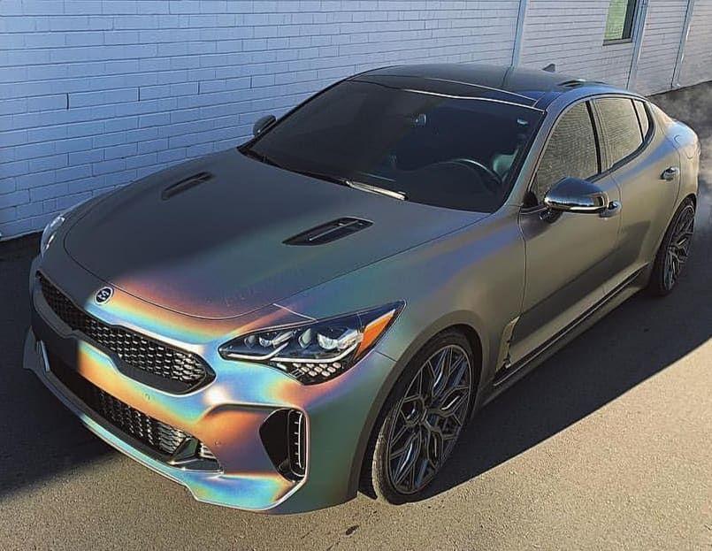 Look At This Custom Color On Psycha Stinger S Stinger Kia Kiastinger Kiastingergt Kiausa Sportscar Horsepo Kia Stinger Kia Stinger