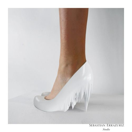 "12 shoes for 12 lovers by Sebastian Errazuriz | the dancing rest - ""Ice Queen"" Sophie"