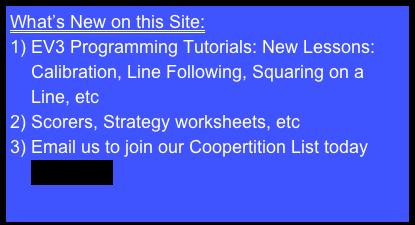 EV3 Programming Tutorials: New Lessons:Calibration, Line