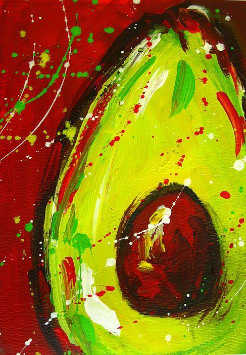 Crazy Avocado 3 By Patricia Awapara Avocado Art Avocado Painting Fruit Painting