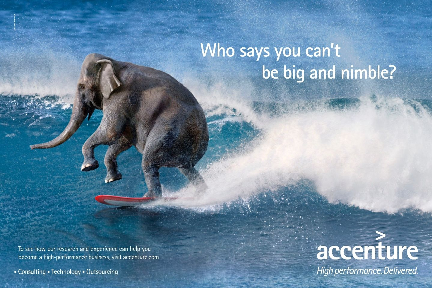 Who Says Elephants Can T Surf Information Technology Services Print Advertising Ad Campaign