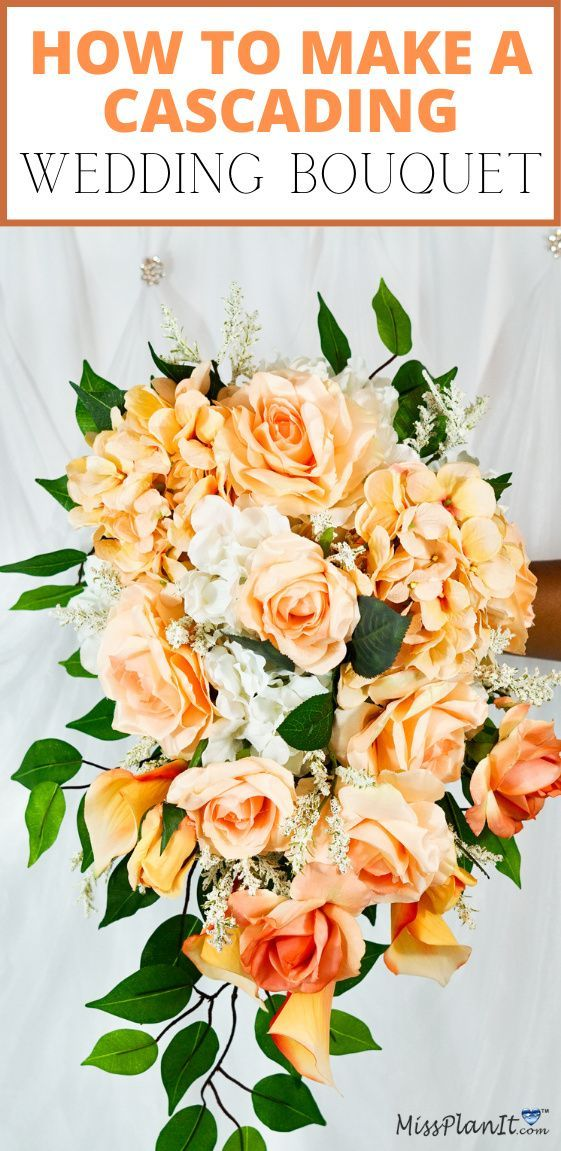 DIY Peach Flowers Wedding Bouquet in 2020 Peach