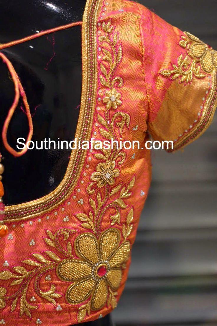Photo of Zardosi Work Blouse for Wedding Sarees