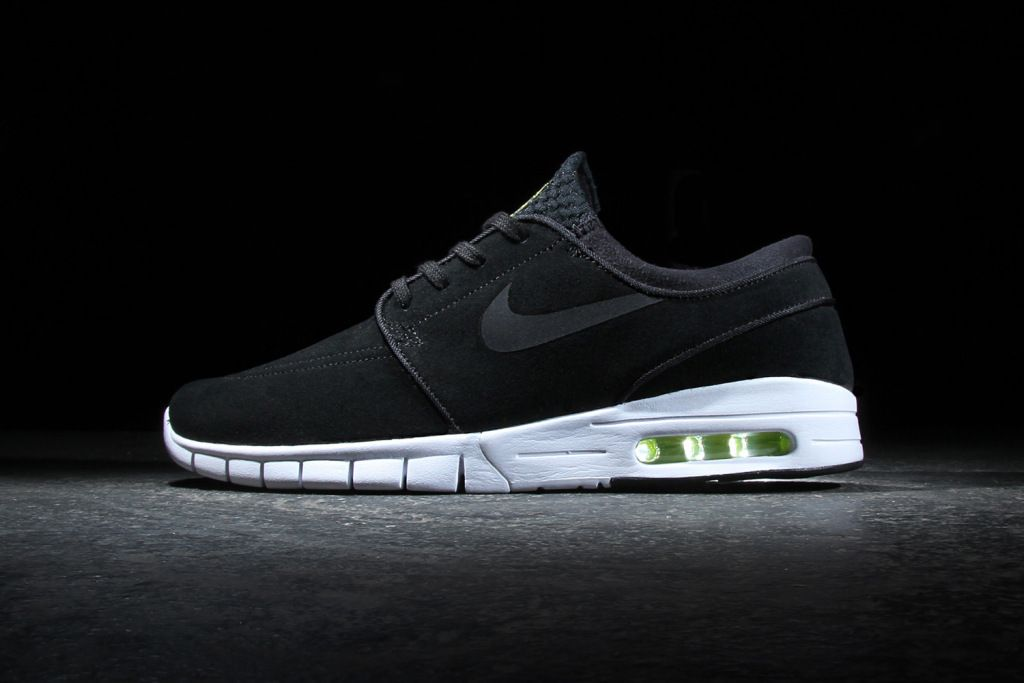 ebed9302fb7d Nike SB Stefan Janoski Max Leather Black Cyber-White