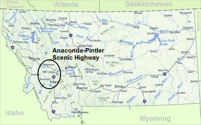 Anaconda-Pintler Scenic Highway, Map of Montana, Top Things To Do In on
