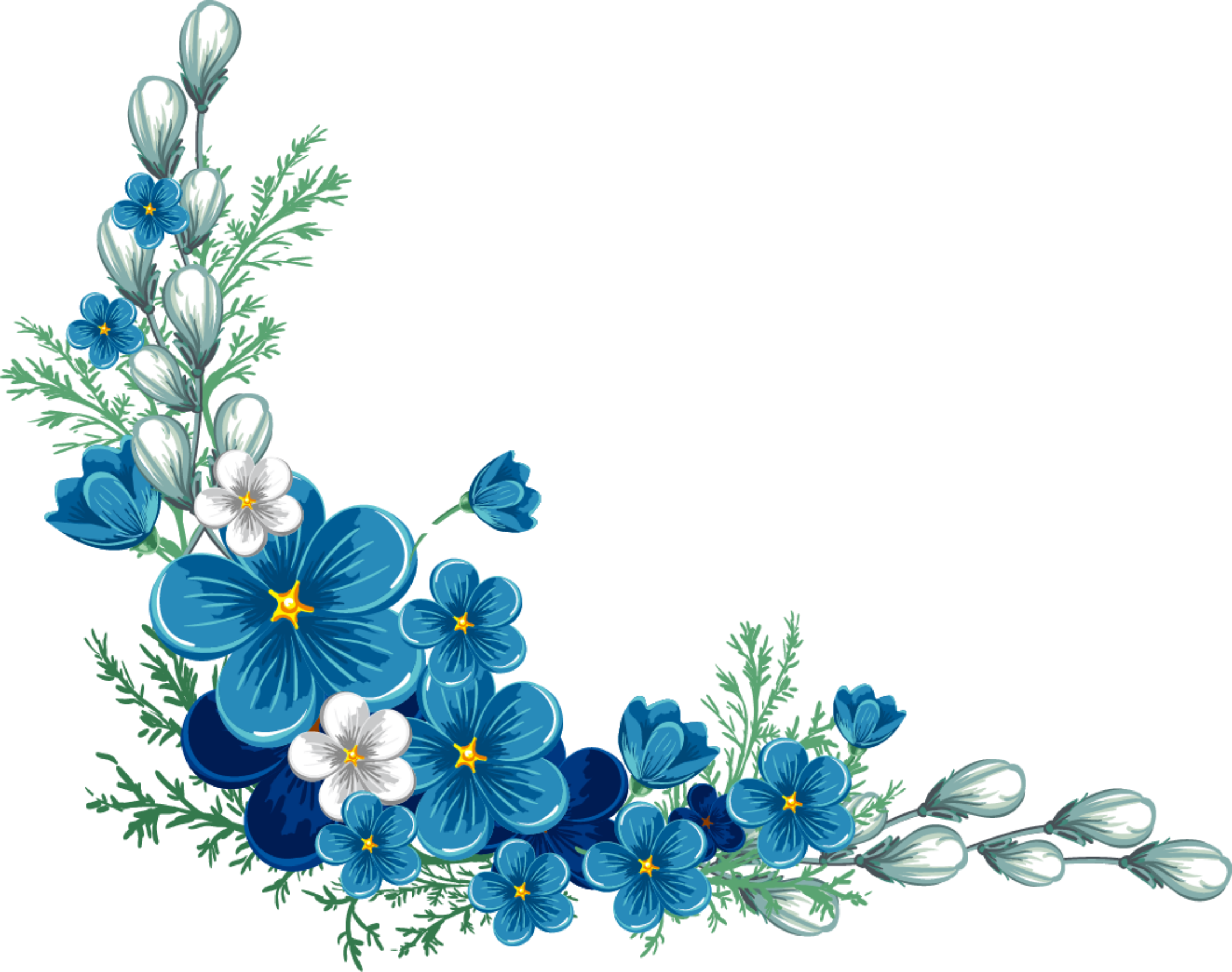 Freetoedit Ftestickers Flowers Watercolor Blue Remixit Blue Flower Painting Blue Flower Tattoos Flower Painting