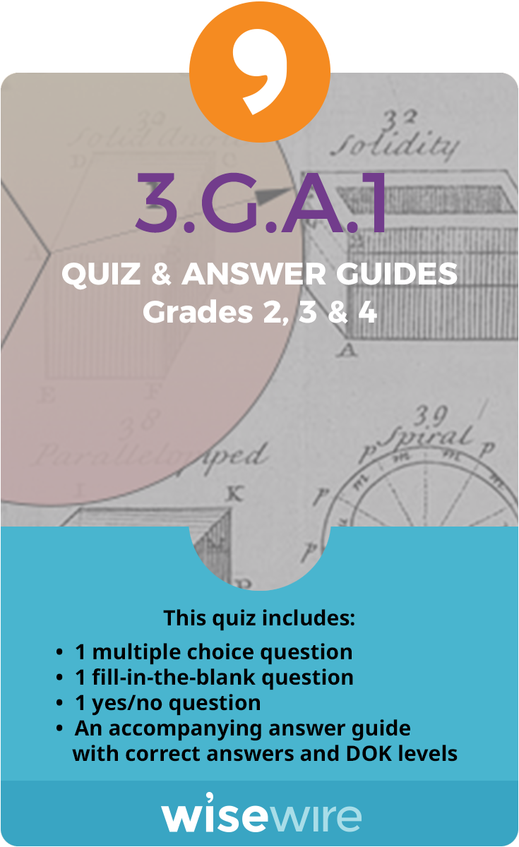 3.G.A.1 - Quiz and Answer Guide | Elementary Math | Pinterest ...