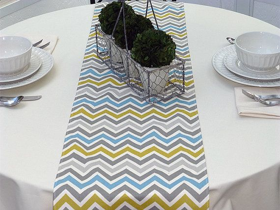 Blue yellow grey zoom zoom chevron table runner wedding gift table blue yellow grey zoom zoom chevron table runner wedding gift table runners decorative holidays negle Image collections