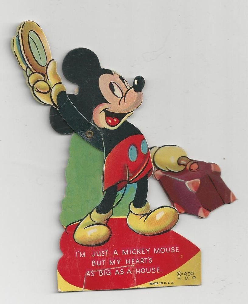 Mickey Mouse Mechanical Valentine, old/vintage/antique ...