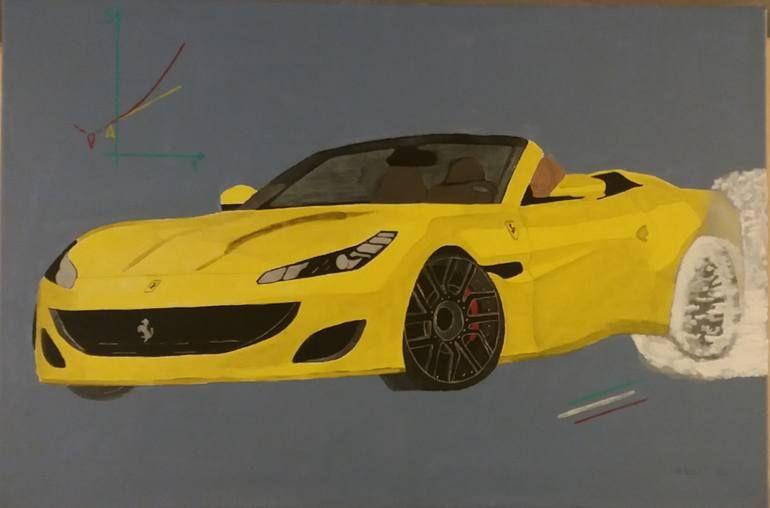 Ferrari Portofino Painting 2020 Art Car Painting Painting