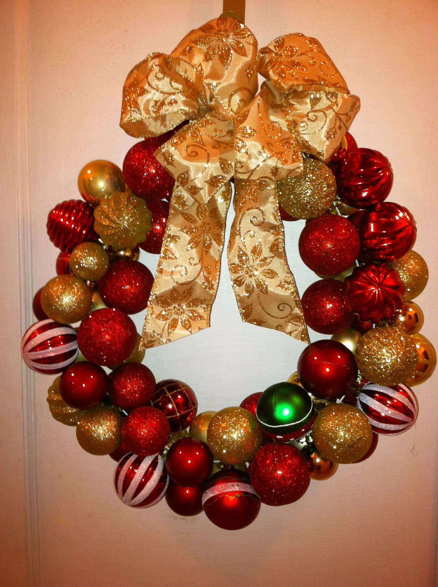Christmas Wreath Items needed wired clothes hanger 50